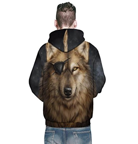 Sweatshirt Hoodies 3D Print Drawstring Capuche à Manches Longues Casual Sportswear Respirant Jumper Avec Big Poche Pour Hommes Ou Femmes Ou Couples Black