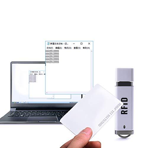 CplaplI Computerzubehör, 125 kHz Näherungssensor, ID-Karte USB RFID-Lesegerät für Android Windows XP/7/10
