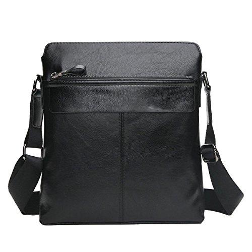 Männer Business Cross Pay Notebook Taschen Schulter Aktenkoffer Hausschuhe Black1