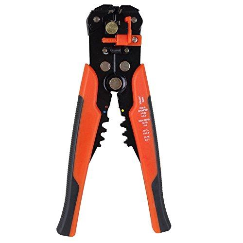 Preisvergleich Produktbild Abisolierzange automatisch 210mm Drahtschneider Crimpzange Abisolierer Zange