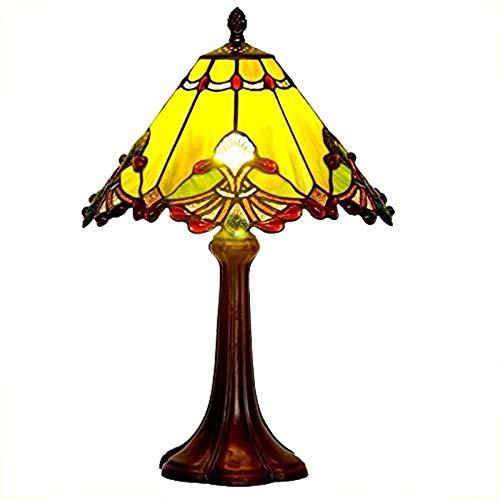 YCL Tischlampe Retro Europäischen Glas Online Switch Studie Schlafzimmer Nachttischlampe Einfache Wohnzimmer Dekoration Lampe