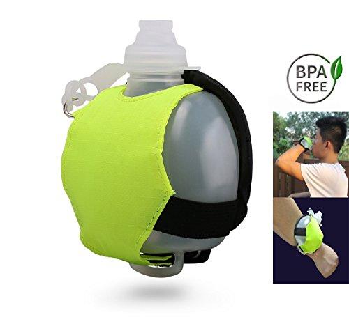 Soyar borraccia da running leggero e resistente, si applica a ciclismo, camminare, correre, sport, tempo libero e attività all' aperto (verde fluorescente), fluorescent green