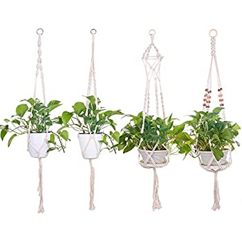 ulikey suspension macram plante pour suspendre pot de. Black Bedroom Furniture Sets. Home Design Ideas