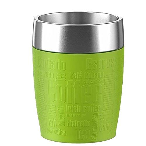 Emsa 514516 Isolier-Trinkbecher, Mobil genießen, 200 ml, Dreh- Trinkverschluss, Limette, Travel Cup