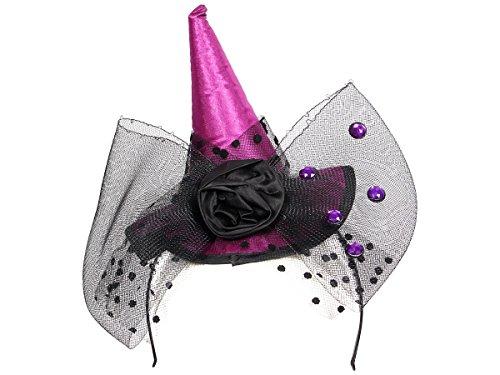 Serre tête convenable aux adultes et aux enfants grâce à sa flexibilité, Ce serre-tête ne vous fera pas passer inaperçue pendant la Fête d'halloween ou soirée à thème évenement déguisé accessoire idéal pour se déguiser, choisir:190100 chapeau de sorciŠre