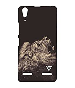 Vogueshell Lone Lion Printed Symmetry PRO Series Hard Back Case for Lenovo A6000