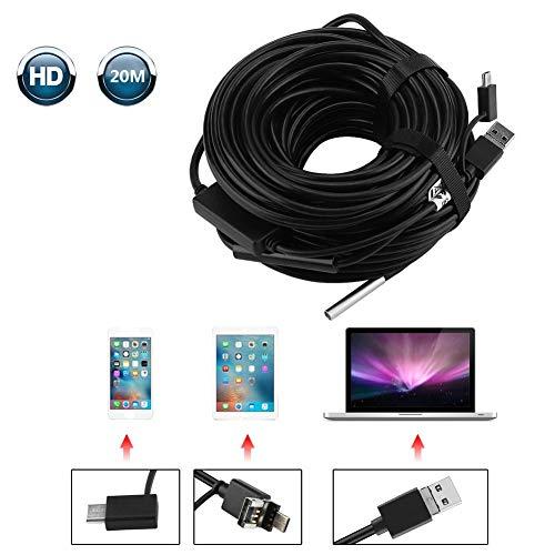 Inspektionskamera 20 Meter 5,5 mm 3 in 1 USB/Micro-USB/Typ-C-Endoskop mit 720P wasserdichter Kamera für Pipe Car Inspection