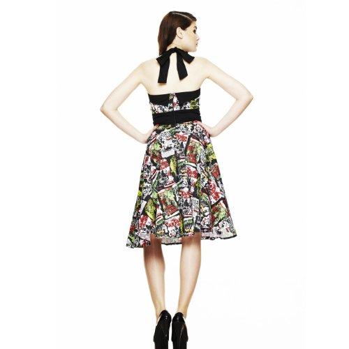 Hell Bunny London – 50er Jahre Kleid mit mit coolem Alloverprint - 3