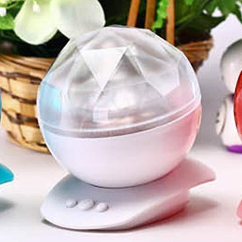 Queenaal Remote Diamante a Forma di Controllo del proiettore di Luce di Notte Built-in Mini Music Player Bianco