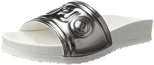 Liu Jo Damen Sumi Pantoffeln Silber (Acciaio  met.)