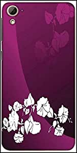Snoogg Abstract Vector Wallpaper Of Floral Themes In Gradient Purple Designer Protective Back Case Cover For HTC Desire 826