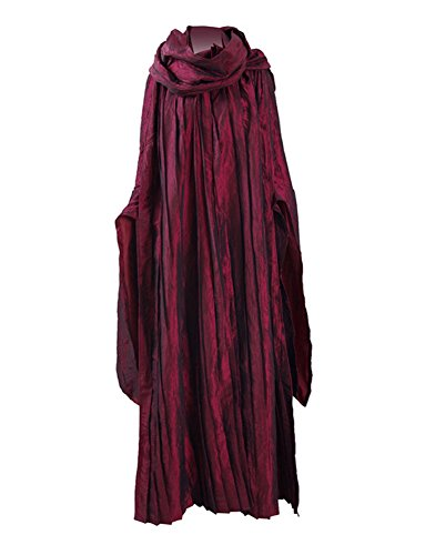 ng Schal Party Kleid Uniform Cosplay Kostume (XL, Rot) (Melisandre Kostüm Halloween)