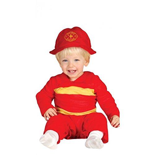 Baby Feuerwehrmann - Kostüm für Kinder Gr. 86 -