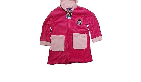 Principesse Vestaglia Bambina Full Zip in Coral Disney Art 2152