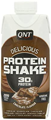 QNT Delicious Protein Shake 330 ml Chocolate Ready-to-Drink Growth and Recovery Shakes - 12 x Cartons from QNT