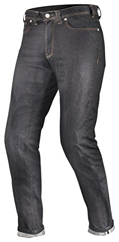 City-denim-hose (Shima TARMAC RAW DENIM Kevlar Herren Motorradhose Jeans Sas-Tec Mit Protektoren, Blau (Raw Denim), W32/L32 (Long))