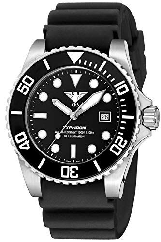 KHS Diver Watch Typhoon Steel TYS.DB