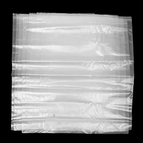 Wchaoen 10 Stücke 55x78 cm Extra Große Klare Taschen Kunststoff Reißverschluss Wiederverschließbaren Beutel Baggy Grip Werkzeugzubehör