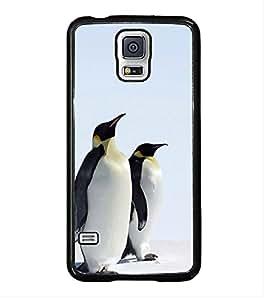 Printvisa Ultra Penguins Pair 2D Hard Polycarbonate Designer Back Case Cover for Samsung Gala...