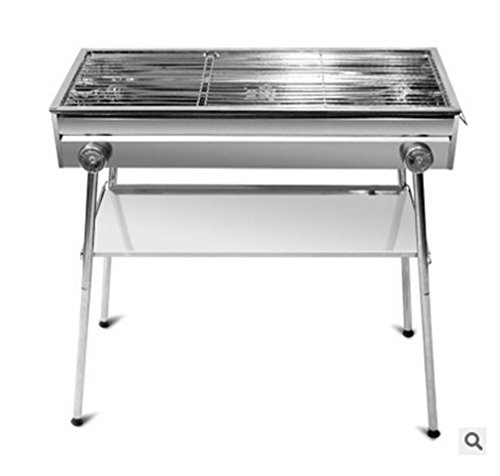 Nola Sang Portable Folding Barbecue Grill, Easy Assemble Edelstahl Herd, Höhenverstellbar, Matching Grill Net, U-Clip und Paket Shelf. Spice Rack Paket