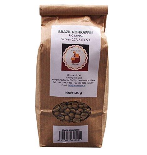 Vienna Kaffee Rösterei - Rio Minas Rohkaffee aus Brasilien - Grüner Brazil Kaffee (500g)