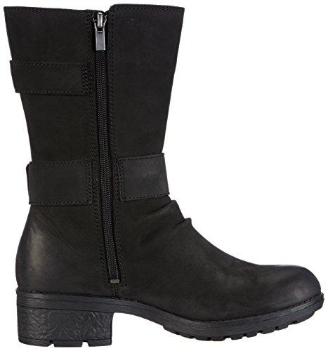 Clarks Mansi Tess GTX Damen Biker Boots Schwarz (Black Leather)