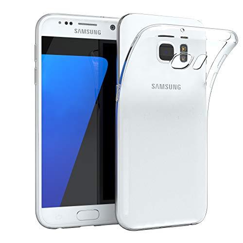 EAZY CASE Hülle für Samsung Galaxy S7 Schutzhülle Silikon, Ultra dünn, Slimcover, Handyhülle, Silikonhülle, Backcover, Durchsichtig, Klar Transparent