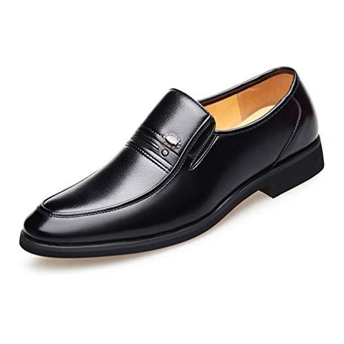 XIGUAFR Chaussure en Cuir Habillé d'affaire Commercial Souple pour Homme de Grande Taille Chaussure sans Lacet de Travail Antidérapant