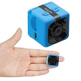 Aufikr Mini Camera Sports HD DV Camera 1080P Portable Tiny Video Camera with IR Night Vision & Motion Detection, Small Surveillance Camera for Home Office (Blue)