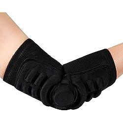 Adultos codo brazo apoyo Brace, Gel Acolchado Codo de Compresión protector de brazo manga–Calentadores de brazo para deportes patinaje, equitación, Crossfit, baloncesto