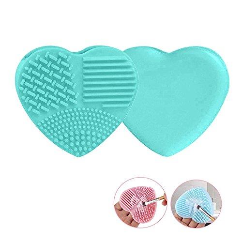 Pawaca - 2 cepillos limpiadores maquillaje forma corazón