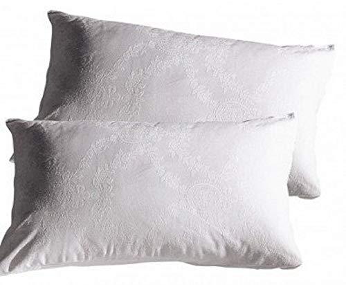 2 federe per guanciali cuscino irge con cerniera in puro cotone 50x80 cm