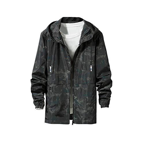 Syliababy Herren Casual Cap Sport Jacke Mode Große Bequeme Jacke Mantel Herren Jacke Sweatjacke Sweater Kapuzenjacke Zip Hoodie Kapuzenpullover Kapuzenpullis Winterjacke(Grün,XXXXXL) (Caps Zum Verkauf Kostüm)