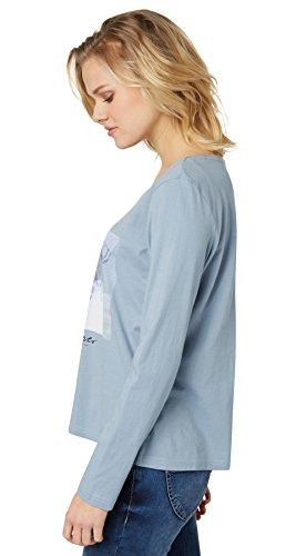 Tom Tailor für Frauen T-Shirt Langarmshirt mit Print Yonder Blue