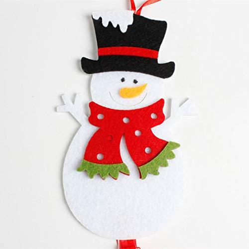 L_shop Weihnachten Anhänger Ornamente Kreative Engel Schneemann Old Man Dekorationen Charming Hängende Weihnachtsbaum Ribbon Party Supplies Dekorationen, Wie es Beschreibung ist, Schneemann - Einen Schneemann Wie Man