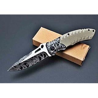 Amazona's presentz (Wüstenfuchs) - G10 Anti Rutsch Handle Scales, Liner Lock, Edelstahl Klappmesser Jagdmesser Überlebensmesser Taschenmesser Hunting Folding Knife