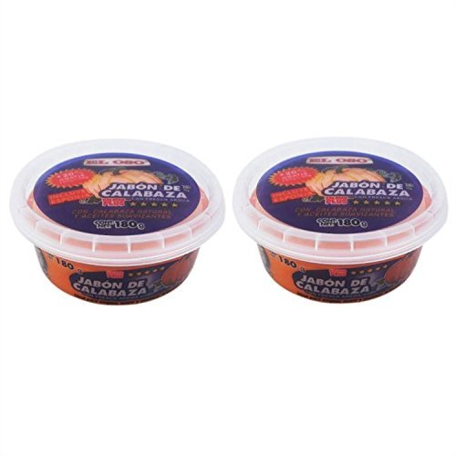 Saddle Soap El Oso - Jabon de Calabaza 6.3 ounces (Pack of Two) Includes 2 Sponges