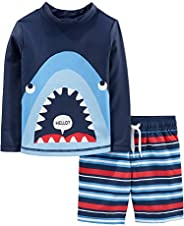 Simple Joys by Carter's 2-Piece Swimsuit Trunk and Rashguard Niños, Pack
