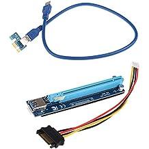 MagiDeal Usb3.0 1x A 16x Adaptador de Tarjeta de Expansión Riser Sata Cable de Alimentación Accesorios - Cable azul