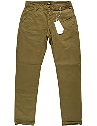 Closed Herren Clifton Slim Stretched Pima Chino Tropical Green