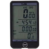 bescita Fahrradcomputer, Wireless LCD Fahrrad Tachometer Auto Wake up Backlight für Ttracking Geschwindigkeit und Distanz, Wasserdicht