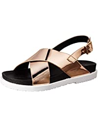 Carlton London Women's Sable Fashion Sandals