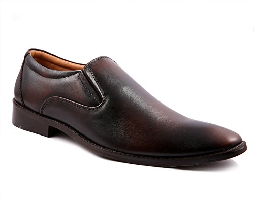 Fashion Tree Confiado Slip On Formal Shoes For Men. Branded Genuine Leather Shoes Brown Color.