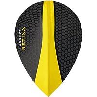 HARROWS Retina Dart Flights–5sets (15)–100micron Extra Stark–Pear–Gelb