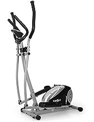 Klarfit ELLIFIT Basic 20 • Bicicleta elíptica • Ordenador de Entrenamiento • Display LCD • Pulsómetro • Resistencia Ajustable a 8 Niveles • Suela Antideslizante • Capacidad 100kg • Gris/Negro