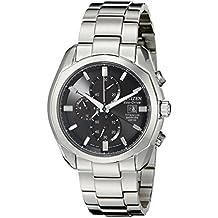 Citizen CA0020-56E - Reloj analógico de cuarzo para hombre, correa de titanio color gris