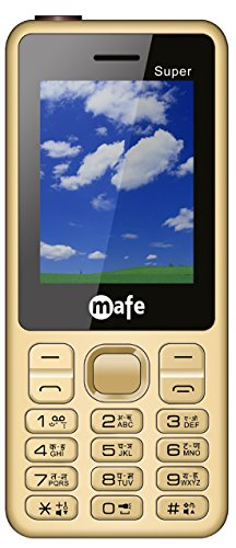 Mafe Super Basic Feature Mobile Phone With Dual Sim, 2.4 Inch Display, 2400 MAH Battery, FM Radio With Recording, Bluetooth, LED Torch, Digital Camera, Expandable Upto 16GB, BIS Certified And 1 Year Warranty (GoldCoffee)