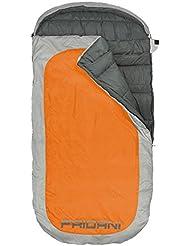 Fridani PO 220S - XXL Elliptic Schlafsack für Erwachsene, 220x110cm, 2400g, -18°C (ext), -2°C (lim), +3°C (comf), extreme Bewegungsfreiheit inkl. Thermoschutz & Kompressions-Packsack