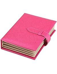 iSuperb® Pendientes libro piel sintética joyas studs bandeja de almacenamiento organizador caso caja para las niñas Mujeres Viaje 18,5x 14x 4,5cm