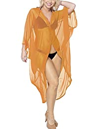 La Leela Cardigan Women's Kimono Beachwear Swimsuit Swimwear Cover up Kaftan Blouse Top